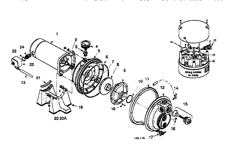 MOTOR AND PUMP ASSEMBLY Diagram & Parts List for Model