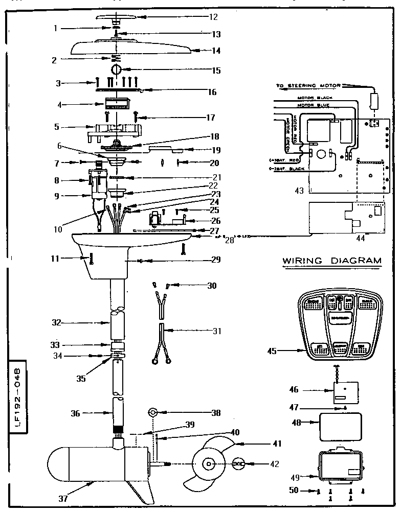 UNIT PARTS Diagram & Parts List for Model L370RF