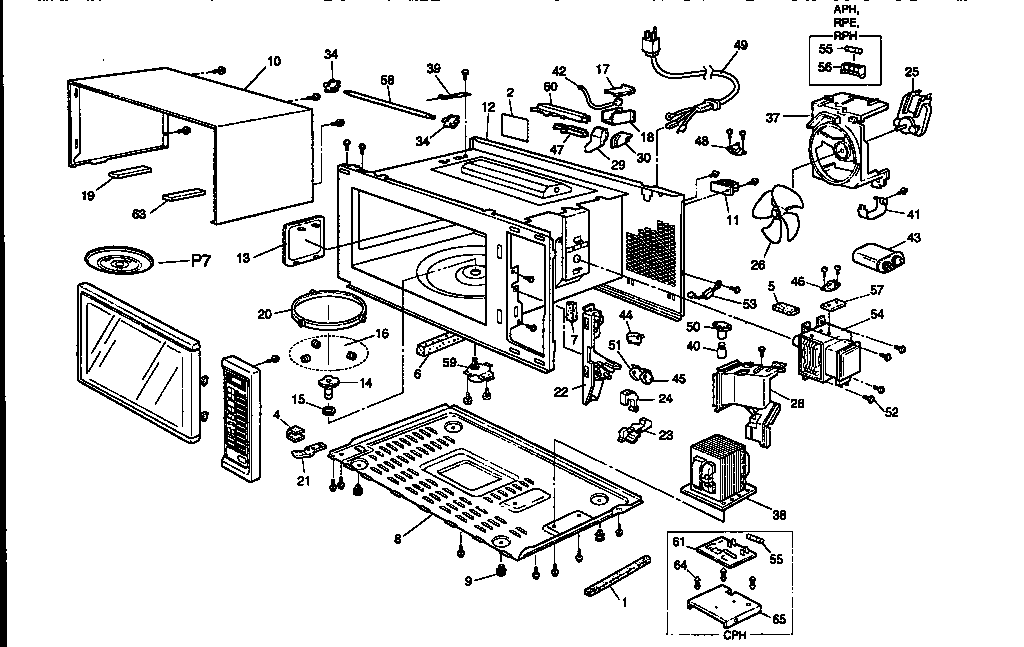 Panasonic Microwave Parts
