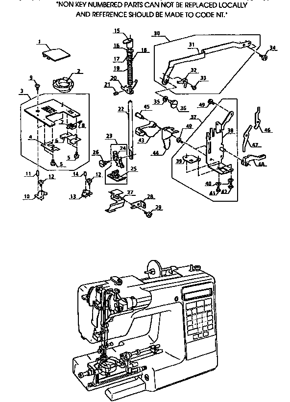 ZIGZAG GUIDE ASSEMBLY Diagram & Parts List for Model
