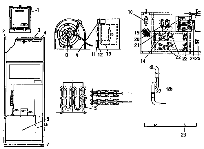 coleman evcon eb17b wiring diagram 1985 corvette radio model furnace heater electric genuine parts