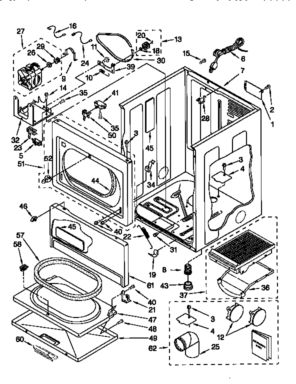 CABINET Diagram & Parts List for Model 11076932690 Kenmore
