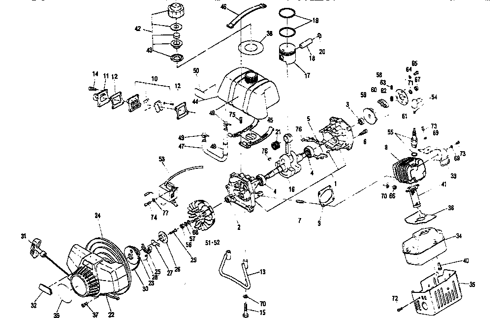 CRANKCASE Diagram & Parts List for Model 636795454