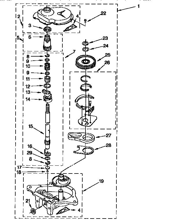 GEARCASE Diagram & Parts List for Model 11026832690