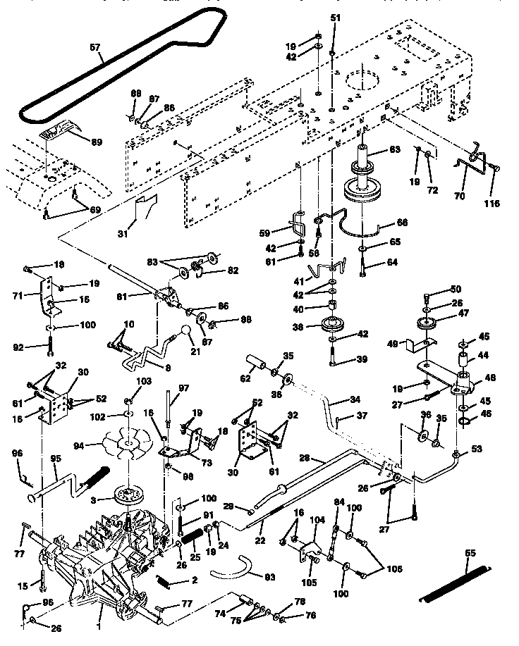 DRIVE Diagram & Parts List for Model 917259340 Craftsman