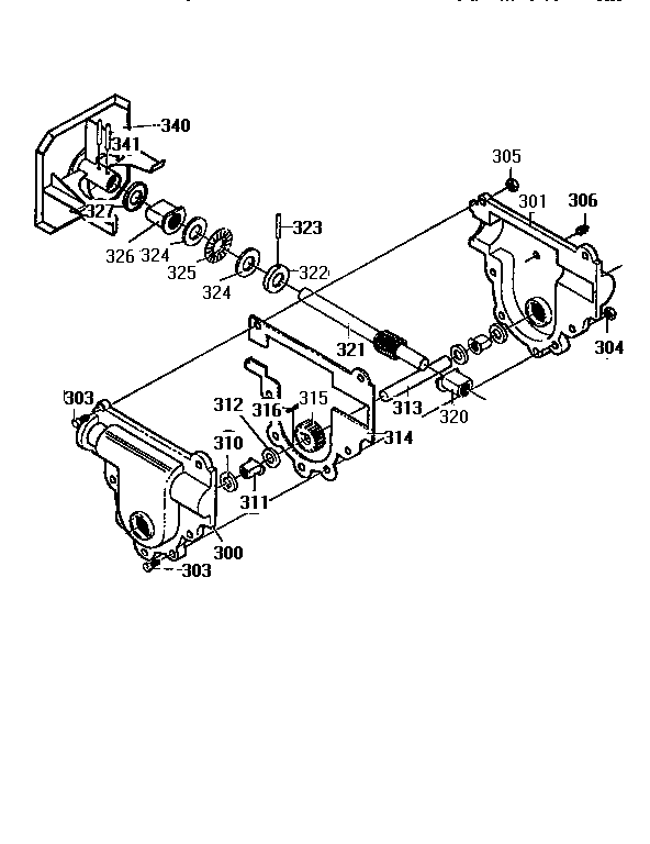 GEAR CASE ASSEMBLY Diagram & Parts List for Model