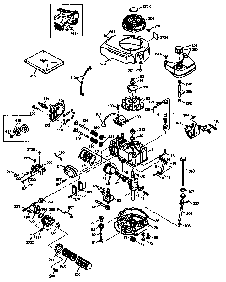 ENGINE (71/143) 143.975502 Diagram & Parts List for Model