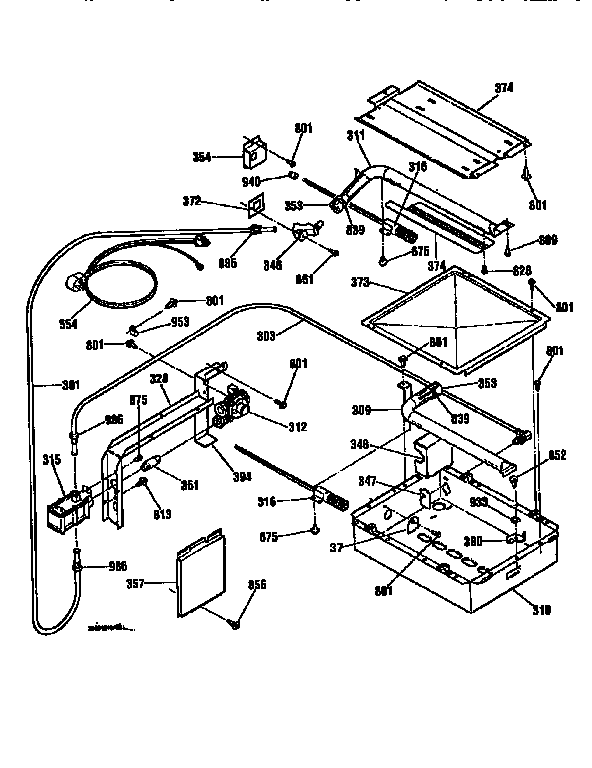 BURNER SECTION Diagram & Parts List for Model 91130469690