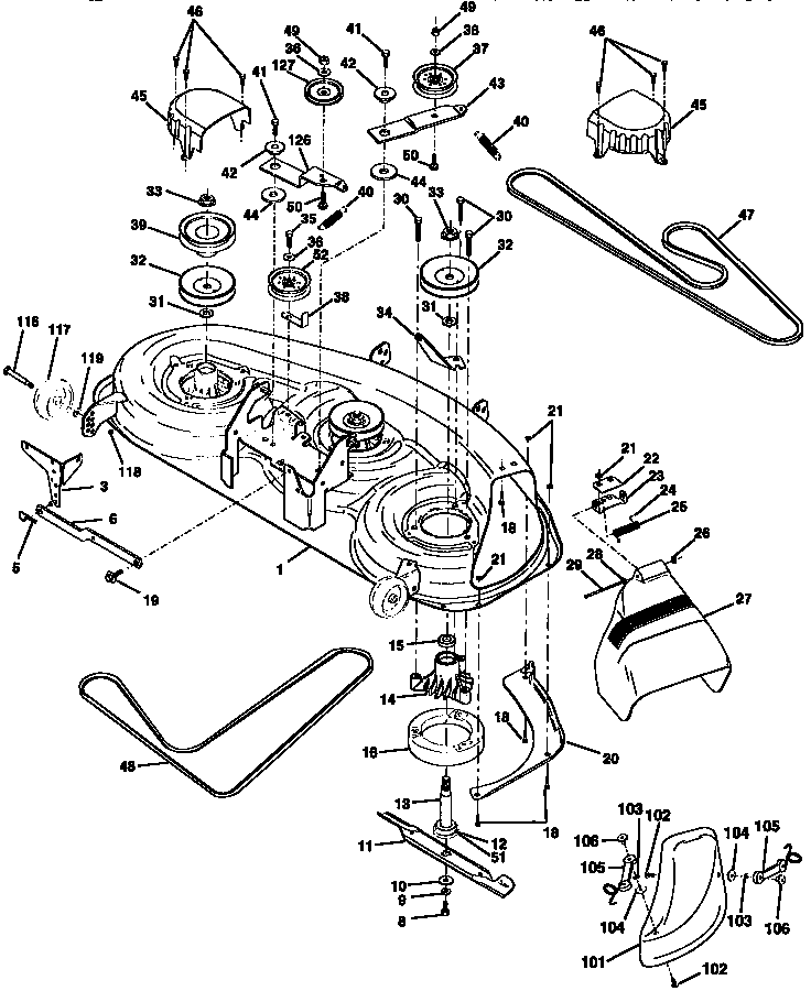Sears Craftsman Lawn Mower Parts Diagram