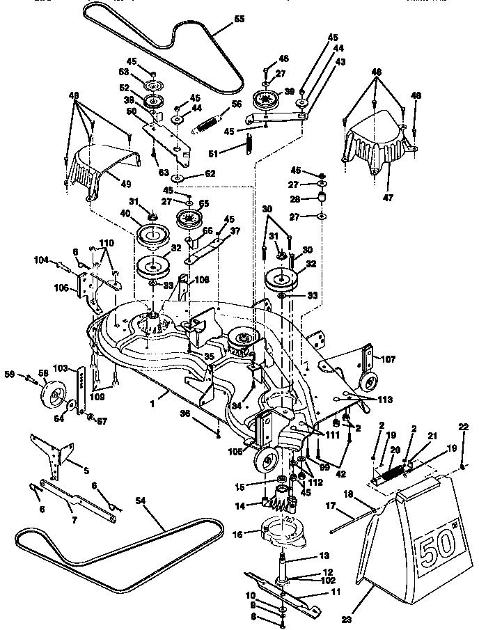 Craftsman 54 Inch Deck Belt Diagram Satu Sticker