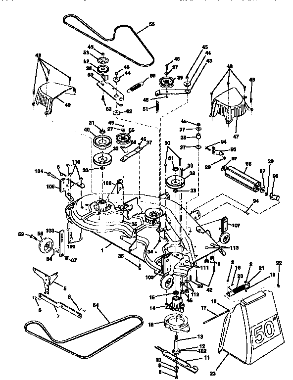 MOWER DECK Diagram & Parts List for Model 917258920