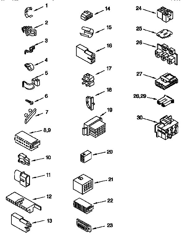 WIRING HARNESS Diagram & Parts List for Model lxr9245eq1