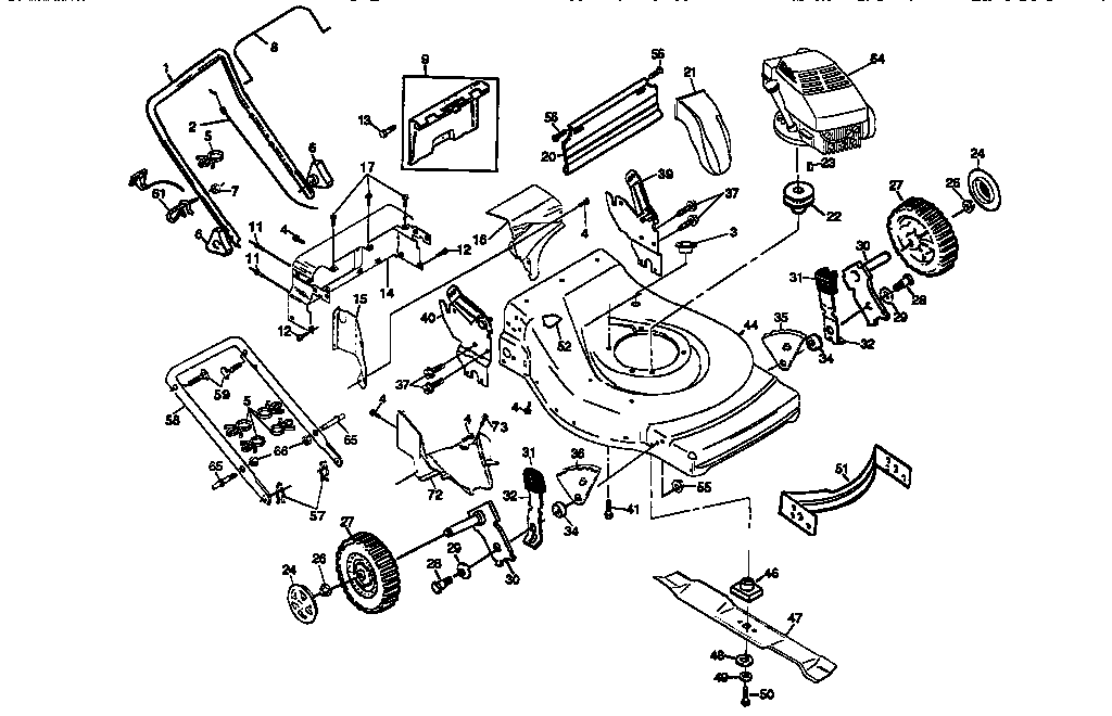 Lawn Mower Lt 1000 Craftsman Deck Parts Diagram, Lawn