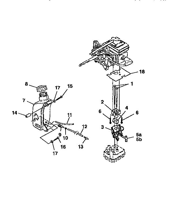 CRAFTSMAN Blower/Vacuum Carburetor kit and fuel t