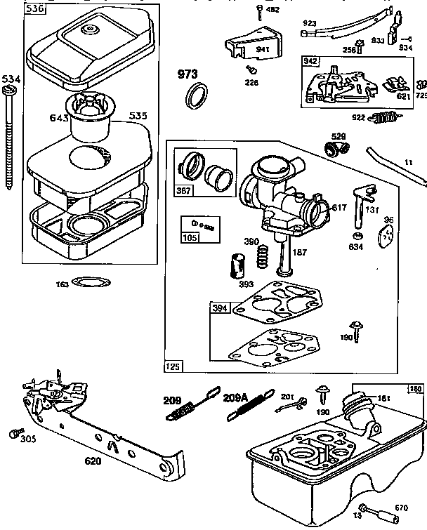 ENGINE (71, 500) 98902-0404-02 Diagram & Parts List for