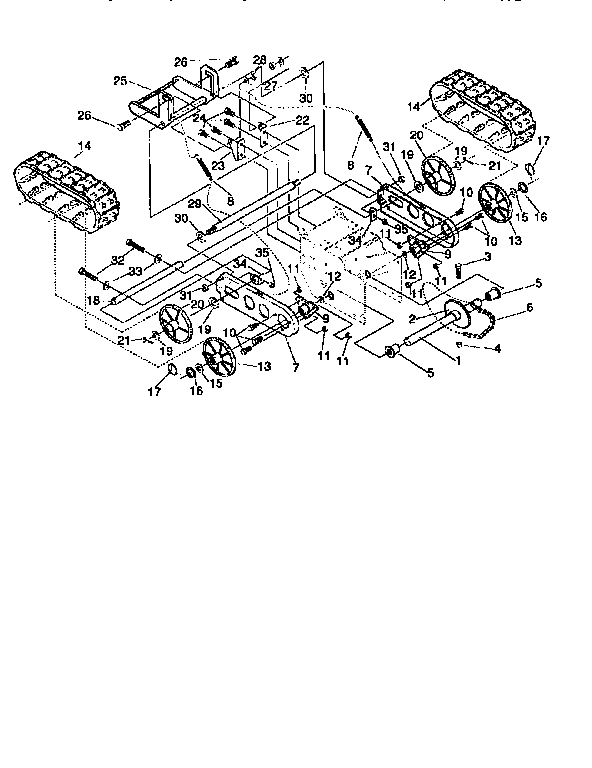 TRACK ASSEMBLY Diagram & Parts List for Model 536885471