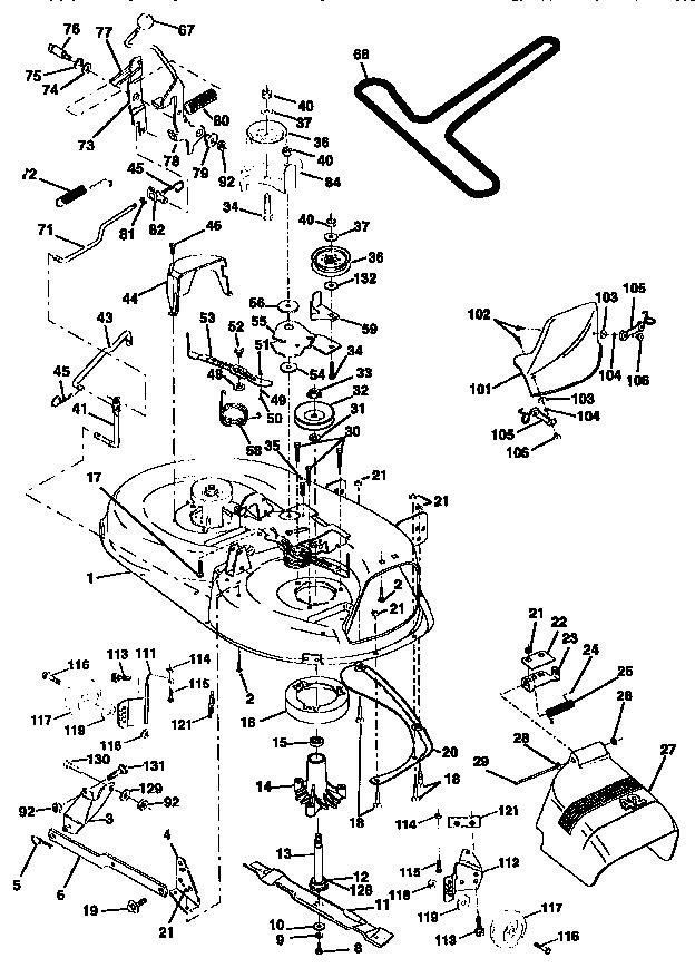 MOWER DECK Diagram & Parts List for Model 917259530