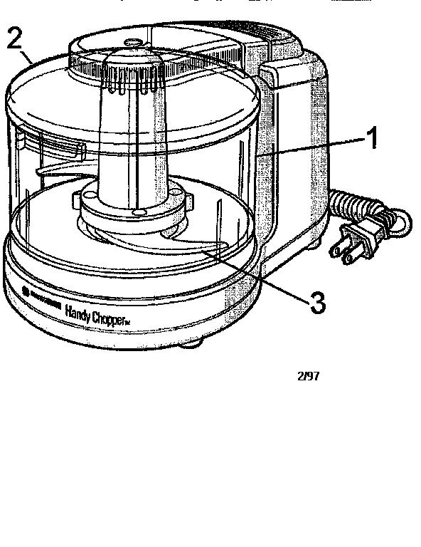 diagram of a food processor