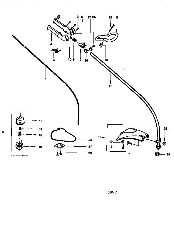 Craftsman weedwacker model 316 parts