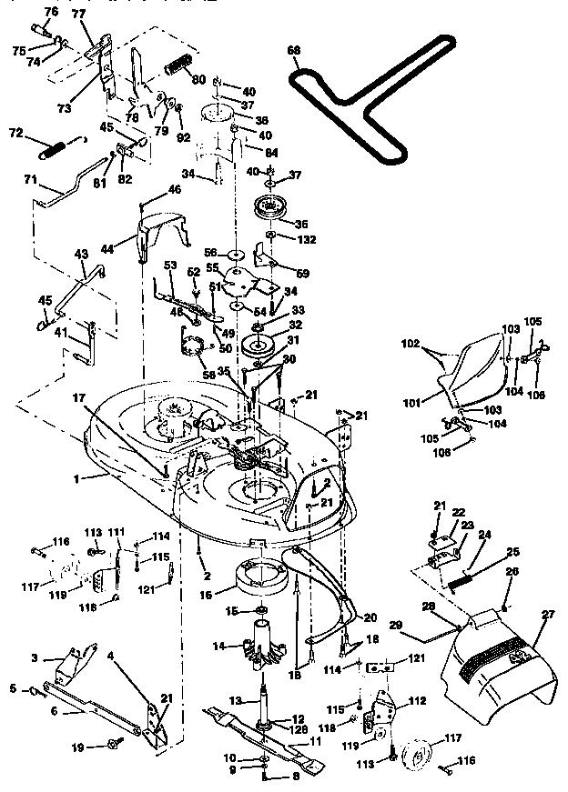 MOWER DECK Diagram & Parts List for Model 917259590