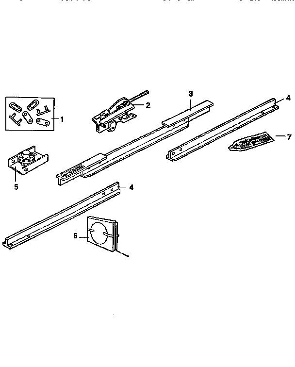RAIL ASSEMBLY Diagram & Parts List for Model 13953675SRT