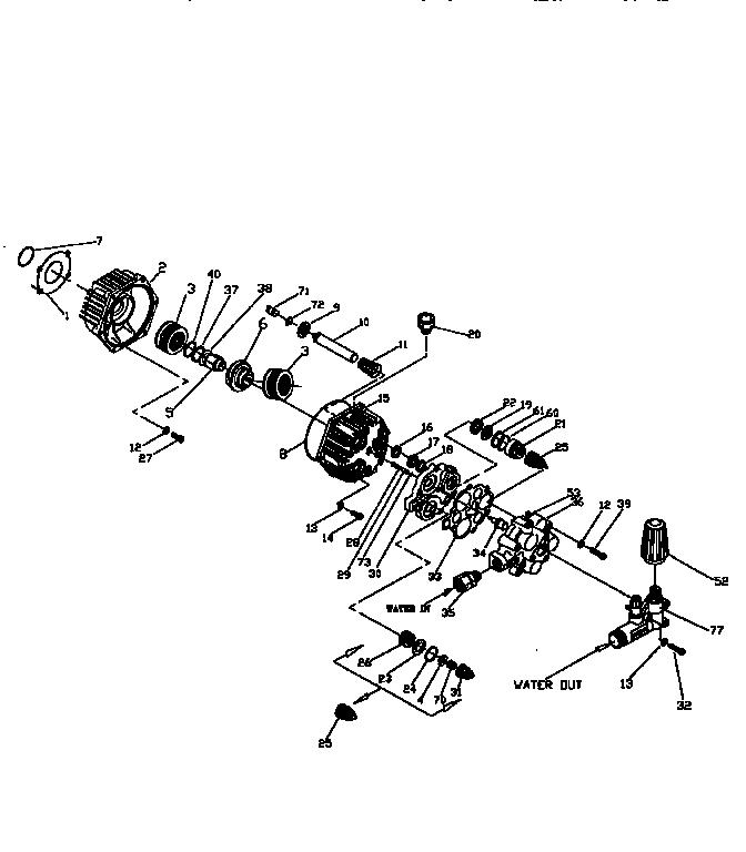 PUMP HEAD ASSEMBLY Diagram & Parts List for Model