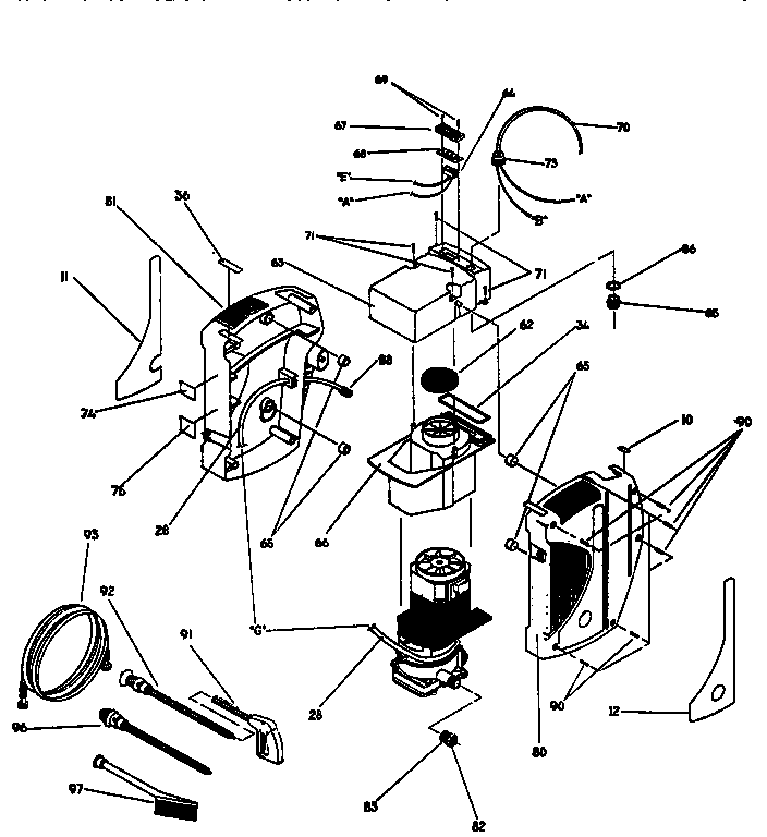 SPRAY GUN AND COVERS Diagram & Parts List for Model