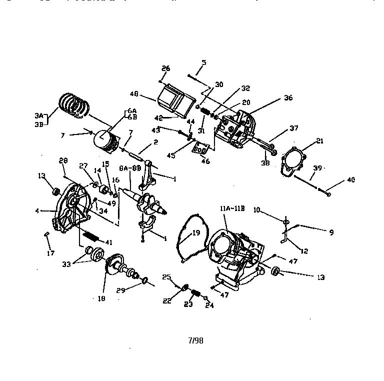 ENGINE Diagram & Parts List for Model 580327250 Craftsman