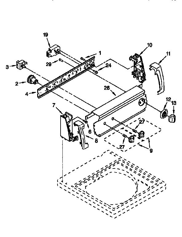 CONTROL PANEL Diagram & Parts List for Model 11026722693