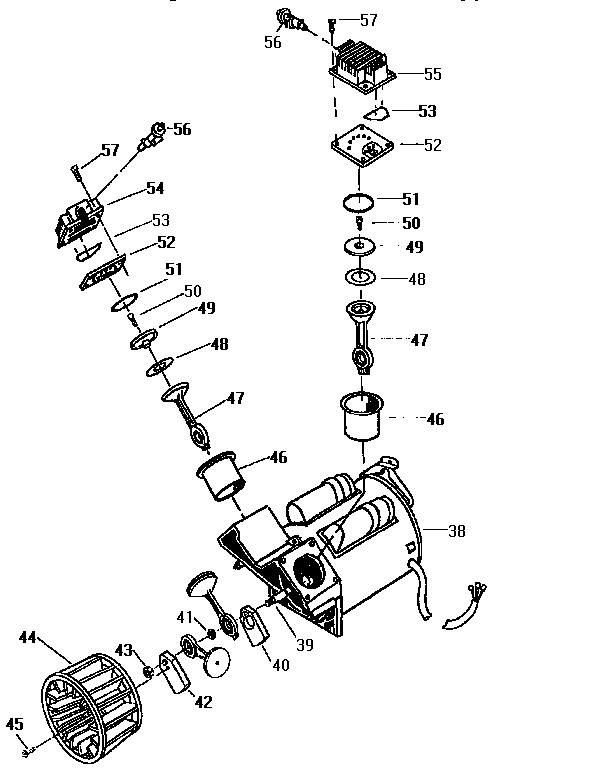 COMPRESSOR PUMP Diagram & Parts List for Model 919166600