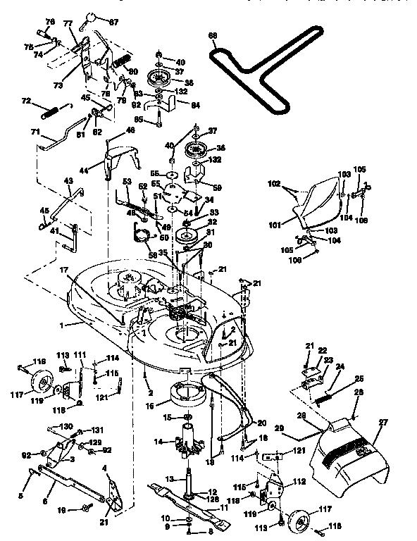MOWER DECK Diagram & Parts List for Model 917258572