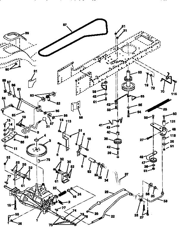 DRIVE Diagram & Parts List for Model 917258542 Craftsman