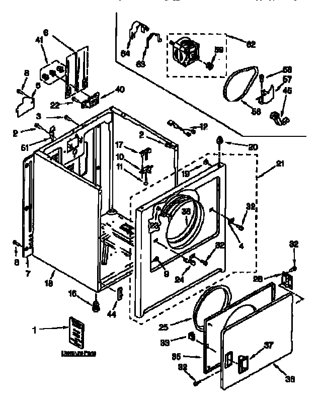 CABINET Diagram & Parts List for Model 11066512690 Kenmore