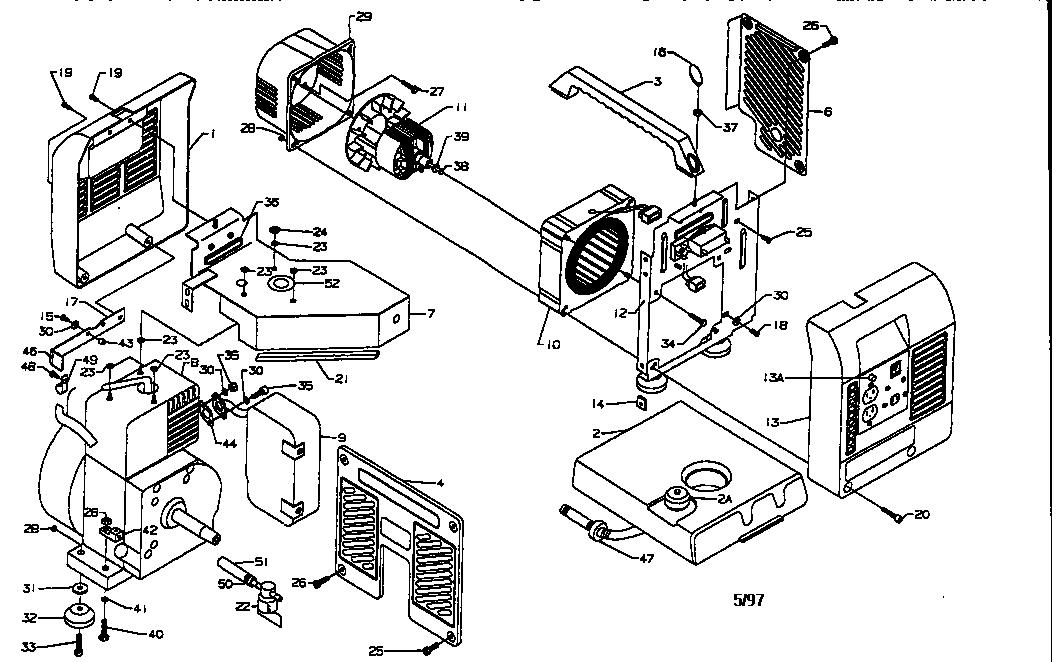 COLEMAN Coleman powermate generator Parts Model PM0401805