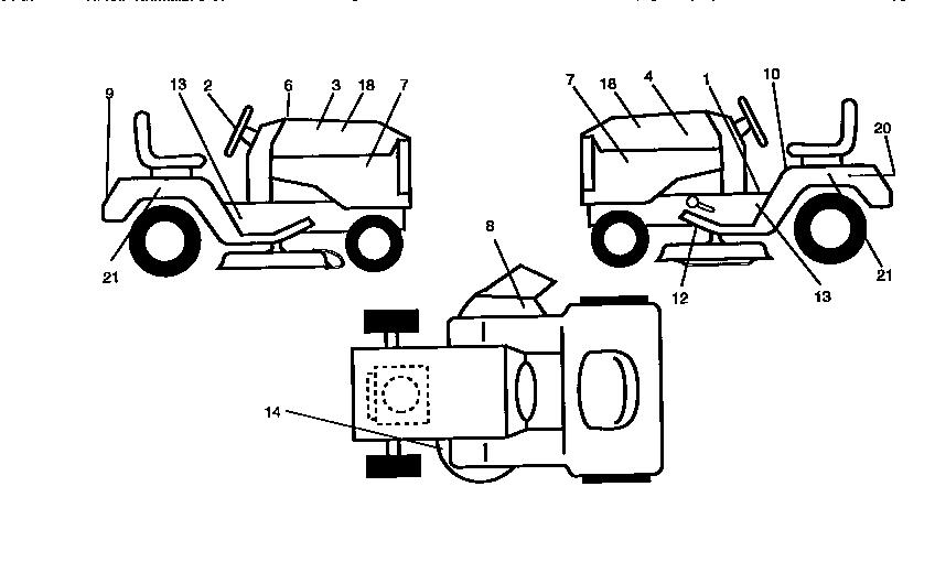 DECALS Diagram & Parts List for Model 917258534 Craftsman