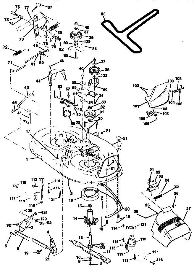 MOWER DECK Diagram & Parts List for Model 917259572