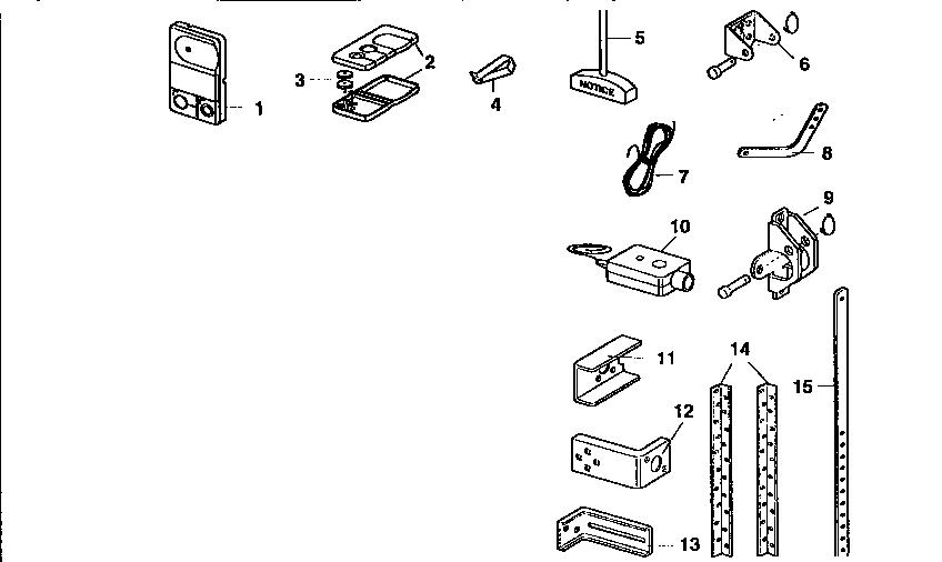 garage door opener installation diagram
