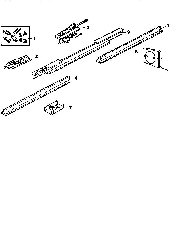 RAIL ASSEMBLY Diagram & Parts List for Model 13953671srt2