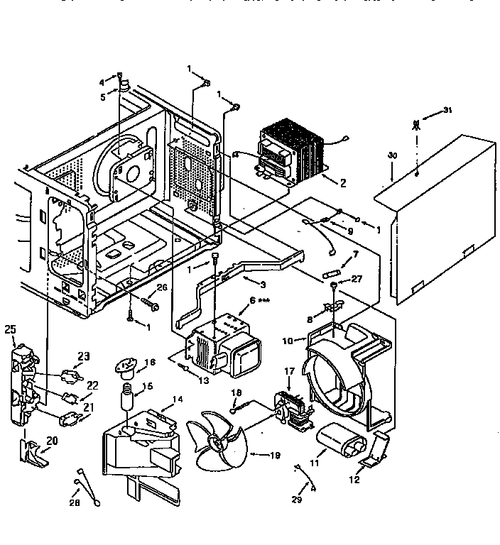 SWITCHES AND MICROWAVE Diagram & Parts List for Model
