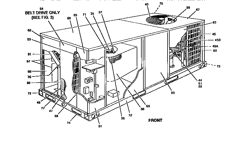 SINGLE PACKAGE COOLING UNITS Diagram & Parts List for