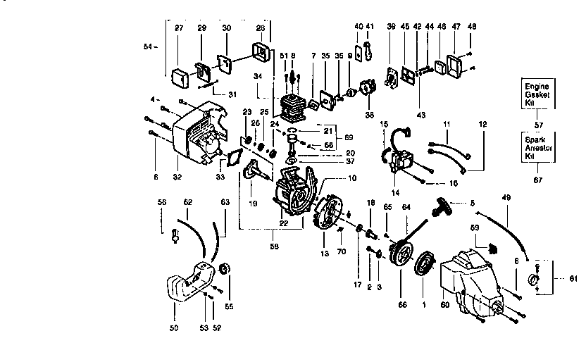 ENGINE Diagram & Parts List for Model 358798560 Craftsman
