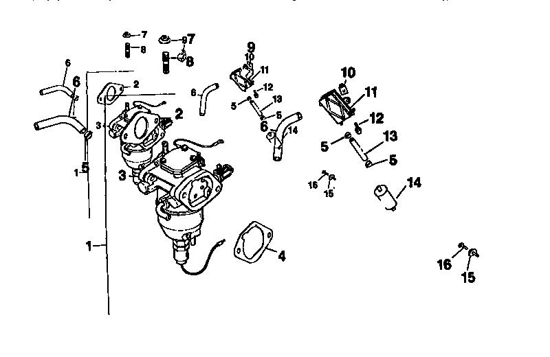 FUEL SYSTEM Diagram & Parts List for Model cv18s61533