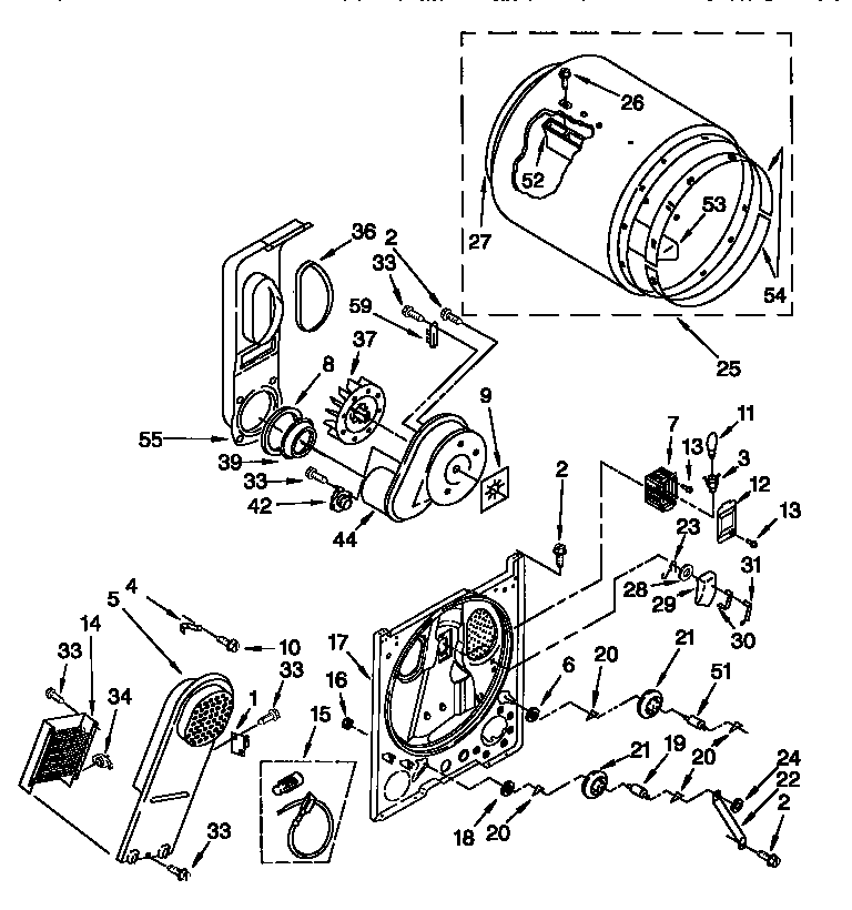 kenmore 80 series electric dryer schematic