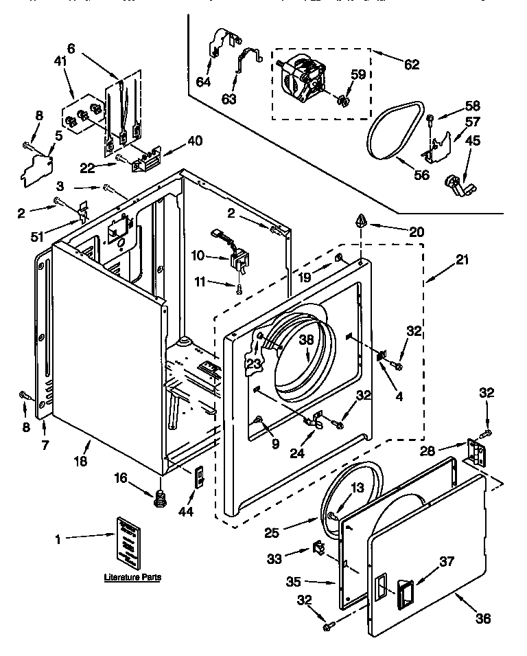 CABINET Diagram & Parts List for Model 11068202794 Kenmore