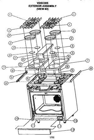 VIKING RANGE CORP ELECTRICGAS SLIDEIN RANGE Parts | Model VDSC305 | Sears PartsDirect