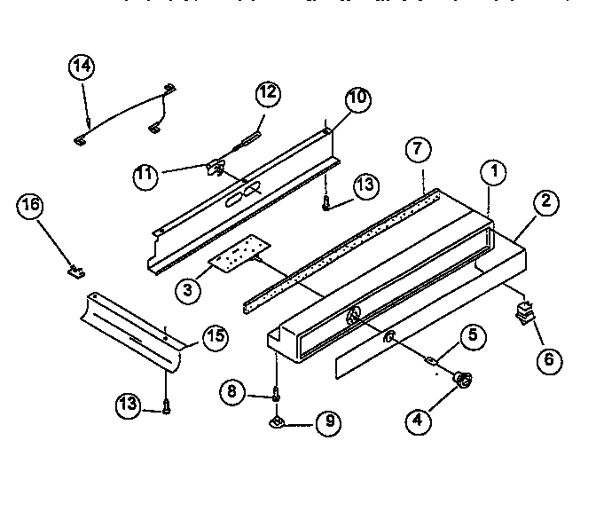 REFRIGERATOR CONTROL PANEL Diagram & Parts List for Model