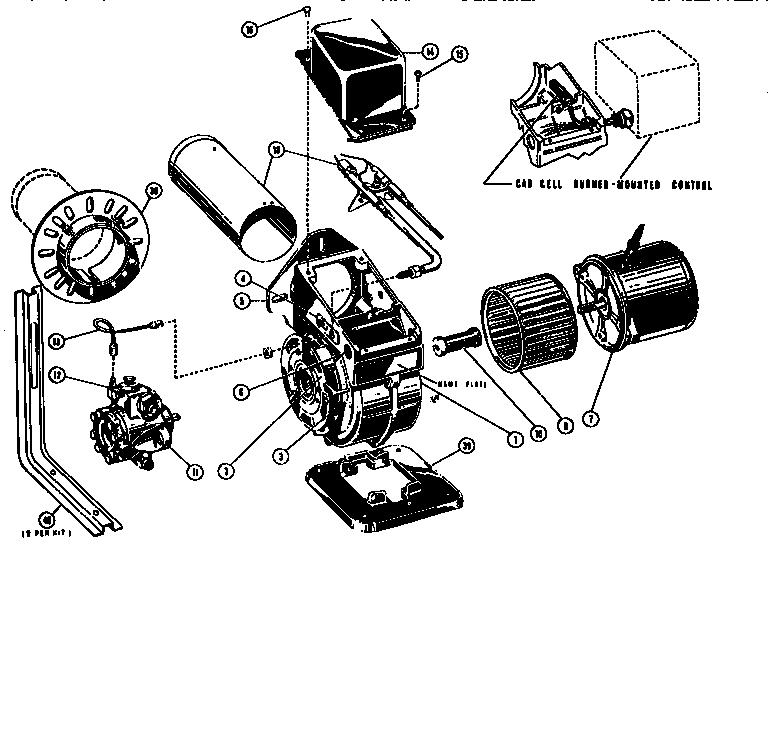 PARTS Diagram & Parts List for Model SFOILBURNER Beckett