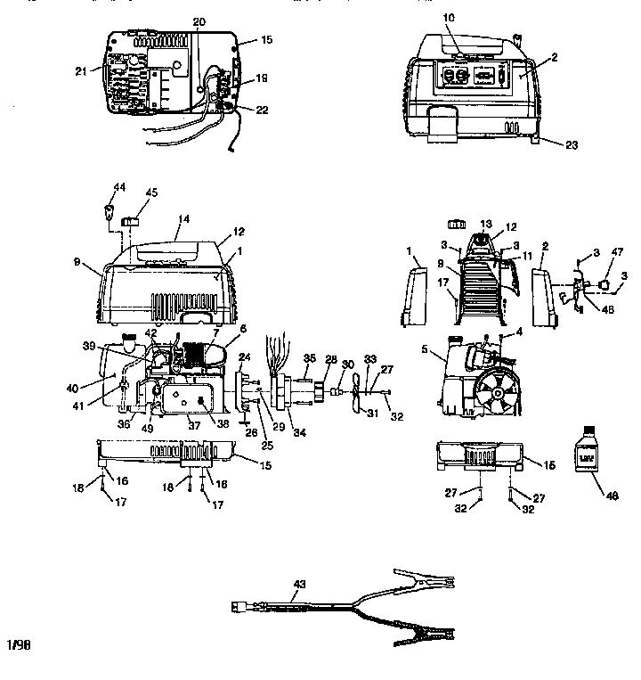 tecumseh engines coleman generator diagram