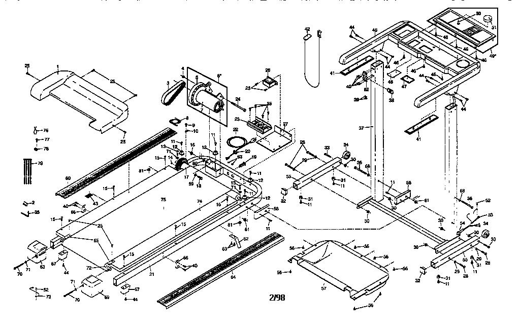 UNIT PARTS Diagram & Parts List for Model wltl25070 Weslo