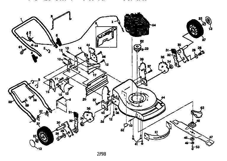 MAIN FRAME Diagram & Parts List for Model 917377580